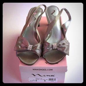 Nina royal silver size 9 women's shoes